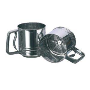 Tamis à farine automatique en inox avec poignée - réf 115060