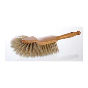 Brosse comptoir demi-tête MATFER en soies naturelles blanches et poignée en bois - réf 118310