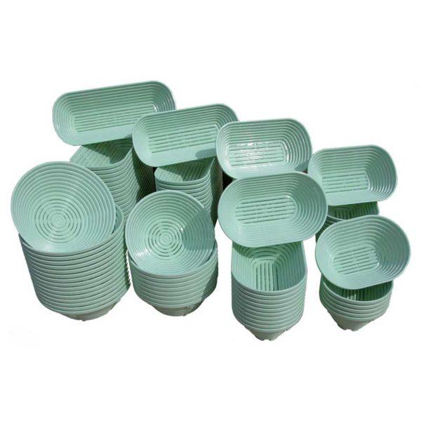 Bannetons à fermentation en polypropylène MATFER réf 118534, 118537, 118539, 118541, 118543, 118545, 118547, 118549, 118550