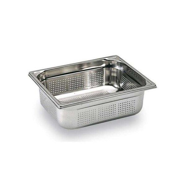 Bac Gastronorme inox perforé sans anse GN 1/2 - MATFER réf 743406, 743410 et 743415