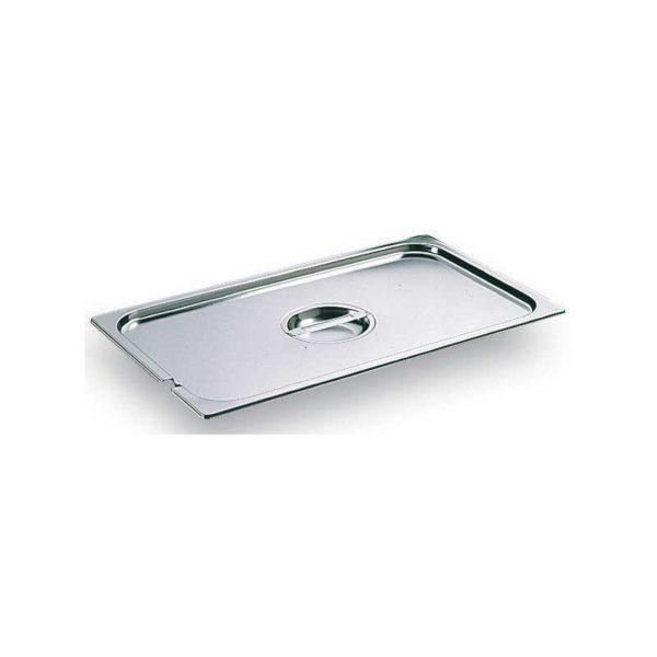 Couvercle en inox avec poignée centrale et encoche pour la louche, pour Bacs Gastronorme - MATFER