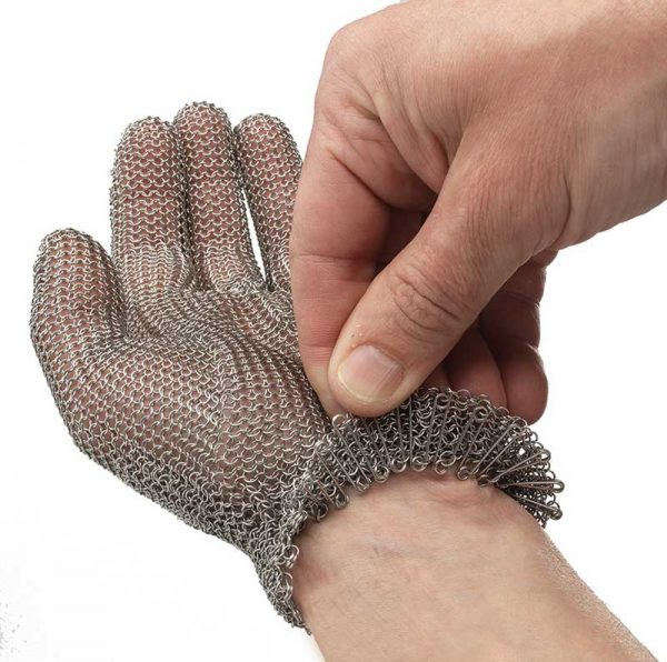 Serrage poignet par ressort inox ultraplat du gant cotte de maille MATFER