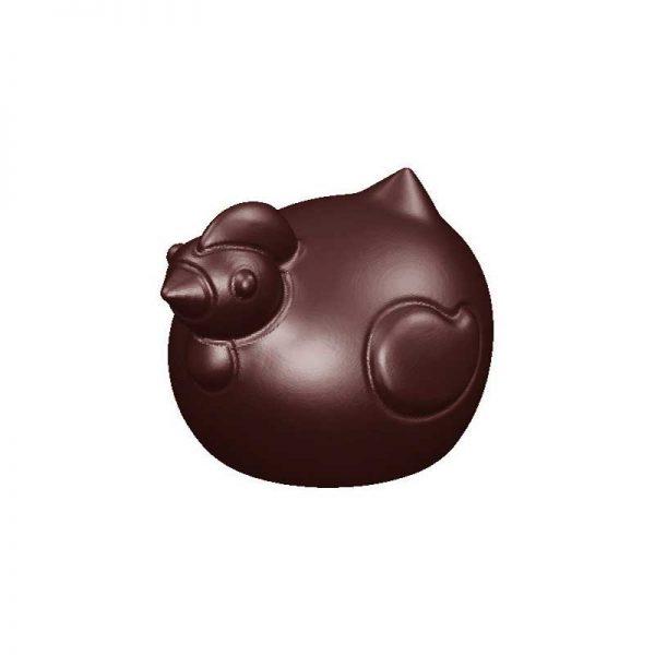Moule à chocolat 18 empreintes pour 9 petites Cocottes - MATFER réf 382000