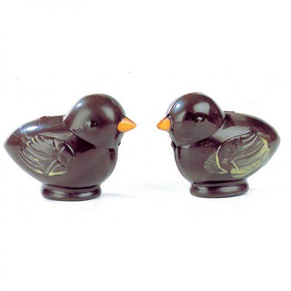 Moule à chocolat 4 empreintes pour 2 Poussins - MATFER réf 382007