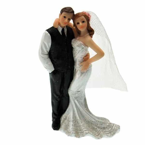 """Figurines Mariage Couple mariés """"Venise"""" - Matfer 877172"""