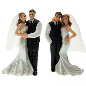 "Figurines Mariage - 2 Couples de mariés ""Venise"" assortis - Matfer 877172"