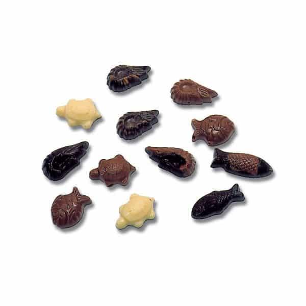 Moule friture Animaux marins Chocolat de Pâques - Matfer 380201