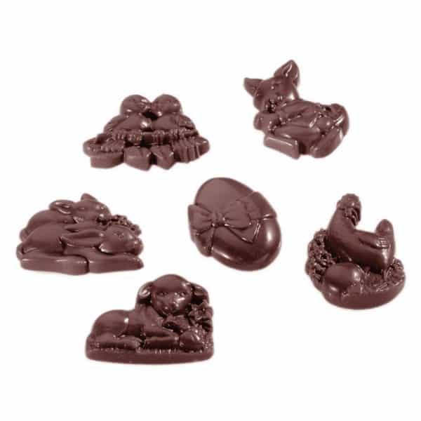 Moule Friture 18 figurines Chocolat de Pâques Matfer 380142