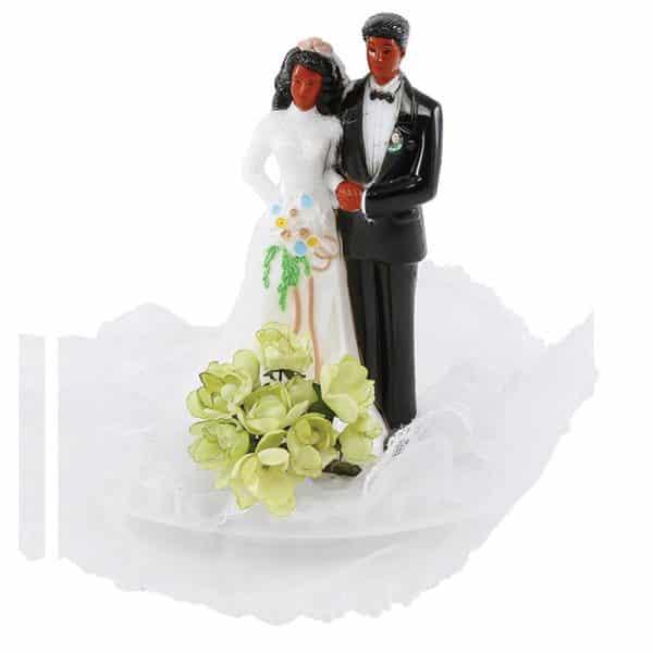 Figurines Mariage - 6 Couples de mariés Noirs - Matfer 877177