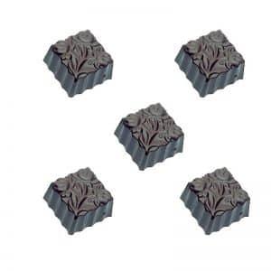 Moule à chocolat Bonbons carrés Fleurs - Matfer 380106
