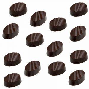 Moule à chocolat Bonbons ovales striés- Matfer 380158