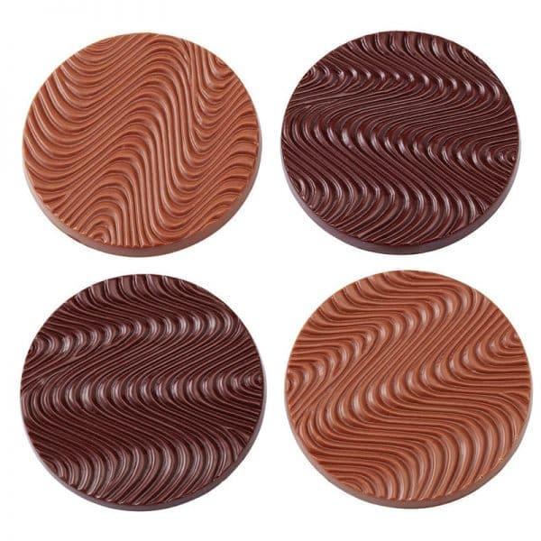 Moule à chocolat Disques Mendiant - Matfer 380151