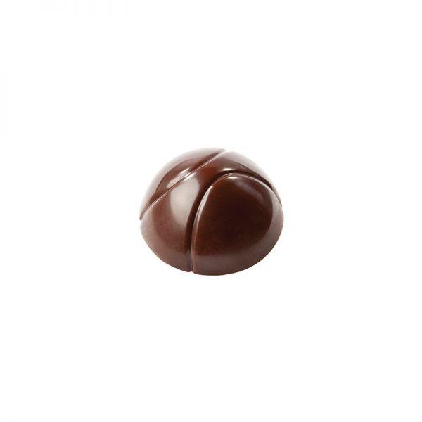 Moule à chocolat demi-sphère 2 rayures - Matfer 383600
