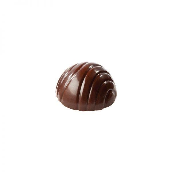 Moule à chocolat demi-sphère 8 rayures - Matfer 383601