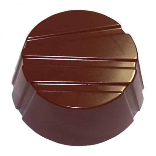 Moule à chocolat Bonbons Ronds rayés - Matfer 380164