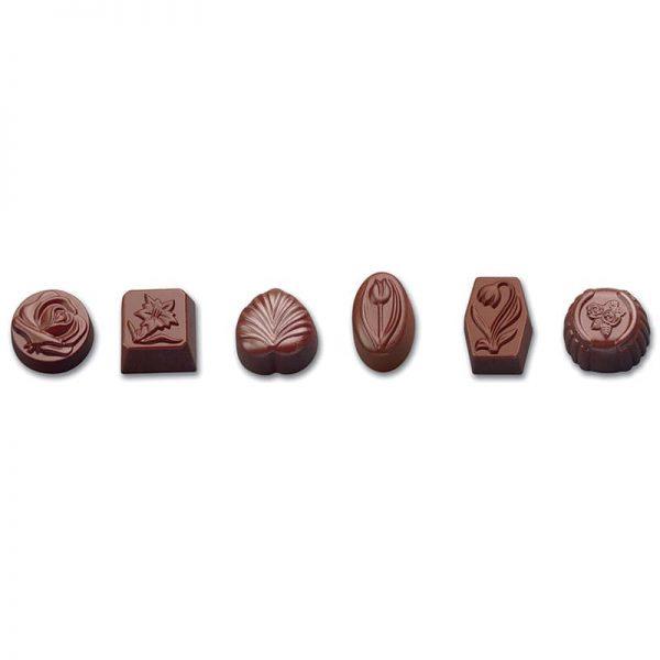 Moule à chocolat pour Assortiment Bonbons en chocolat - Matfer 380104