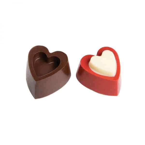 Moule à chocolat Cœurs Reliefs - Matfer-383607
