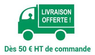 Livraison offerte dès 50 € H.T de commande