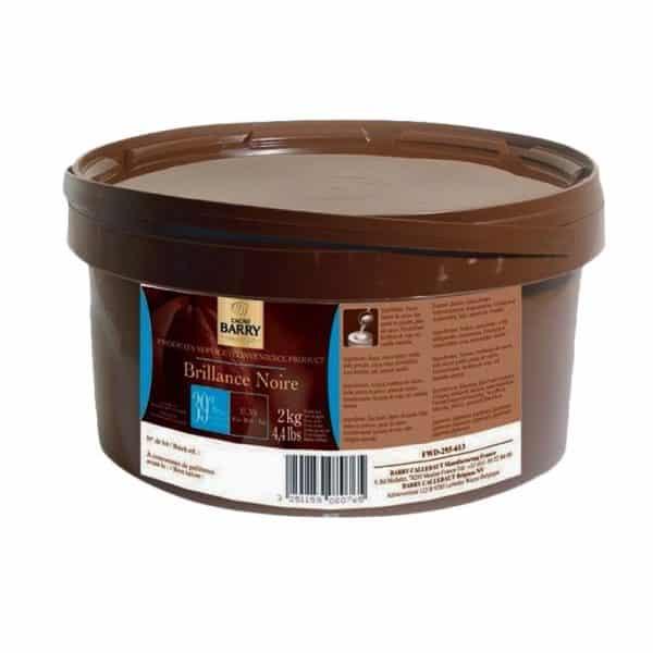 Brillance Noire Barry - Glaçage au chocolat noir - Seau de 2 kg