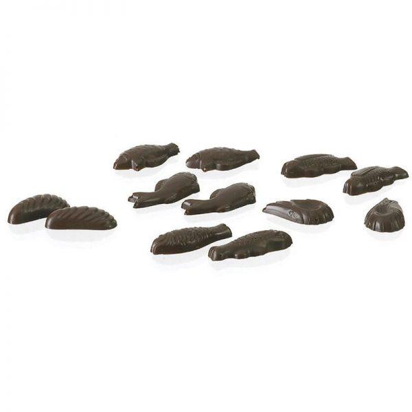 Moule Friture 30 empreintes poissons chocolat Pâques - matfer 380202