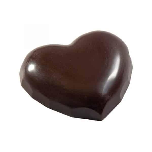 Moule à chocolat - Cœurs Lisses - Matfer référence 383413