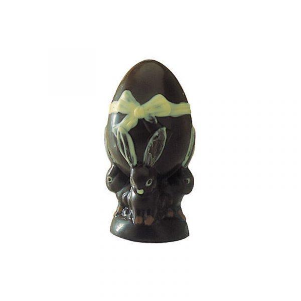 Moule à Chocolat de Pâques - l'Œuf est porté par des Lapins - Matfer 382016