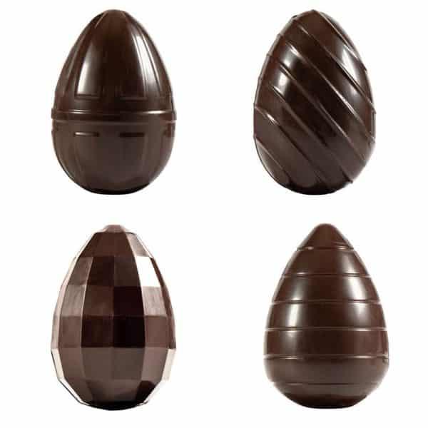 Moule à chocolats de Pâques pour 4 œufs assortis - matfer 382236