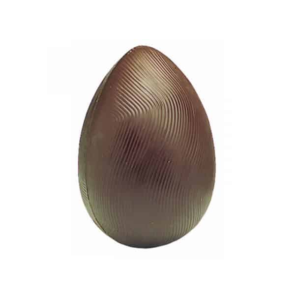 Moule chocolat de Pâques - Demi-coquilles striées - Matfer
