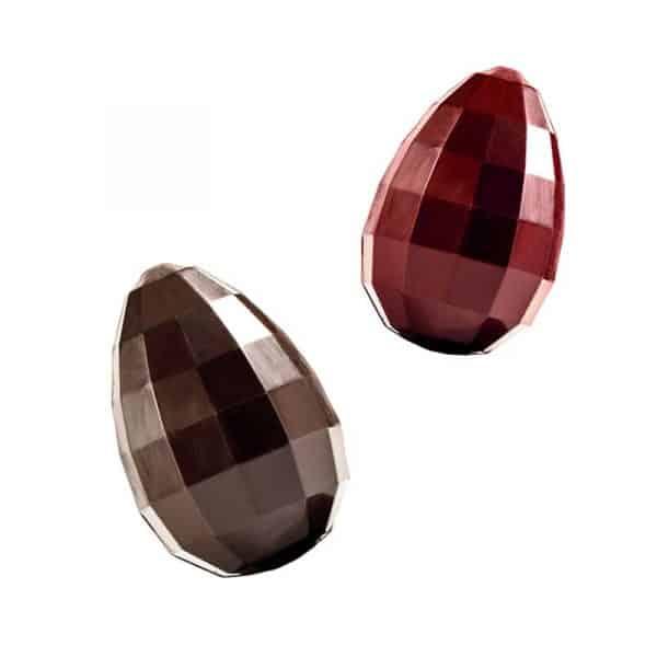 Moule à Chocolat de Pâques - Œuf Diamant - 4 empreintes pour 2 œufs complets - Matfer 382080
