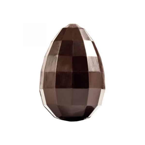 Moule à chocolat de Pâques - Œuf facettes diamant - Matfer 382116