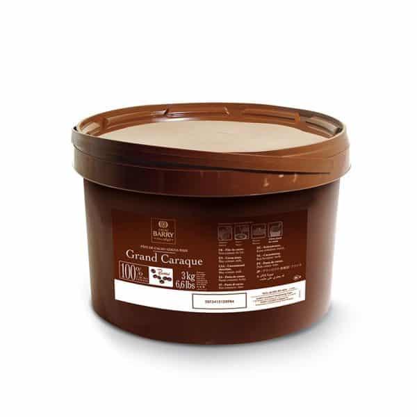 Grand Caraque Barry - Pâte de cacao pure (100 % cacao) - Seau de 3 kg