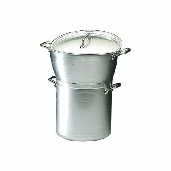 """Couscoussier (ou Marmite cuit-vapeur) en aluminium, Gamme """"Classe Alu"""" - Matfer Bourgeat"""