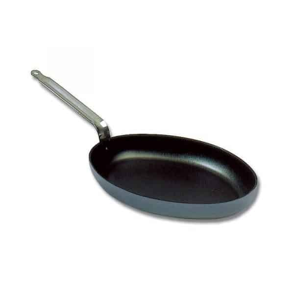 "Poêle ovale ou Poêle à Poisson anti-adhérente aluminium ""Classe Chef+"" Matfer"